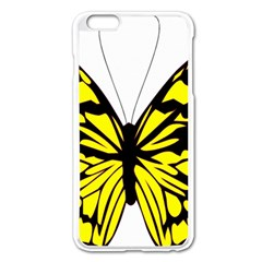 Yellow A Colorful Butterfly Image Apple Iphone 6 Plus/6s Plus Enamel White Case by Simbadda