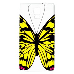 Yellow A Colorful Butterfly Image Galaxy Note 4 Back Case by Simbadda