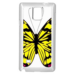 Yellow A Colorful Butterfly Image Samsung Galaxy Note 4 Case (white) by Simbadda