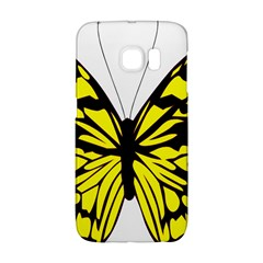Yellow A Colorful Butterfly Image Galaxy S6 Edge by Simbadda