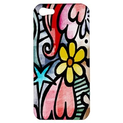 Digitally Painted Abstract Doodle Texture Apple Iphone 5 Hardshell Case