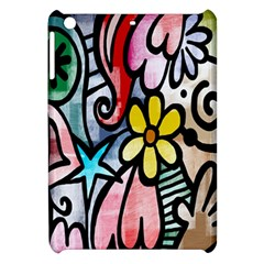 Digitally Painted Abstract Doodle Texture Apple Ipad Mini Hardshell Case by Simbadda