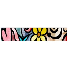 Digitally Painted Abstract Doodle Texture Flano Scarf (small)