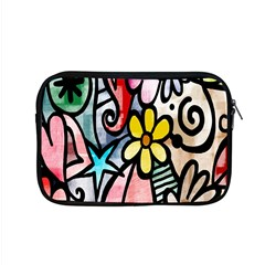 Digitally Painted Abstract Doodle Texture Apple Macbook Pro 15  Zipper Case by Simbadda