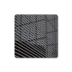 Abstract Architecture Pattern Square Magnet by Simbadda