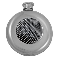 Abstract Architecture Pattern Round Hip Flask (5 Oz) by Simbadda