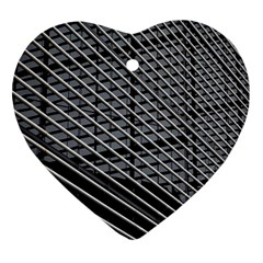Abstract Architecture Pattern Heart Ornament (two Sides) by Simbadda