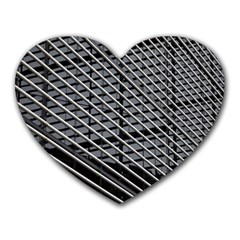 Abstract Architecture Pattern Heart Mousepads by Simbadda