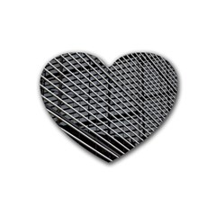 Abstract Architecture Pattern Rubber Coaster (heart)  by Simbadda
