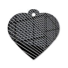 Abstract Architecture Pattern Dog Tag Heart (one Side) by Simbadda