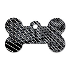 Abstract Architecture Pattern Dog Tag Bone (one Side) by Simbadda