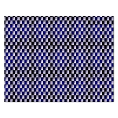 Squares Blue Background Rectangular Jigsaw Puzzl by Simbadda