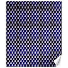 Squares Blue Background Canvas 20  X 24   by Simbadda