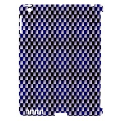 Squares Blue Background Apple Ipad 3/4 Hardshell Case (compatible With Smart Cover) by Simbadda