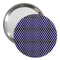 Squares Blue Background 3  Handbag Mirrors by Simbadda