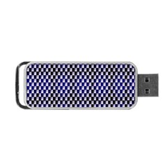 Squares Blue Background Portable Usb Flash (two Sides) by Simbadda