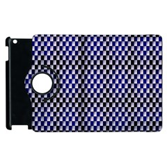 Squares Blue Background Apple Ipad 2 Flip 360 Case by Simbadda