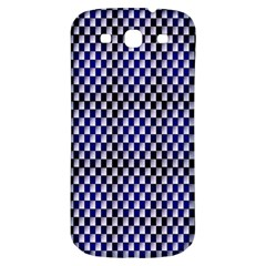 Squares Blue Background Samsung Galaxy S3 S Iii Classic Hardshell Back Case by Simbadda