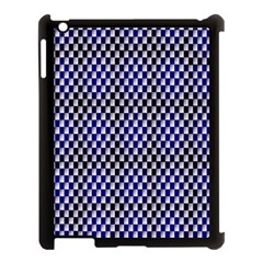 Squares Blue Background Apple Ipad 3/4 Case (black) by Simbadda