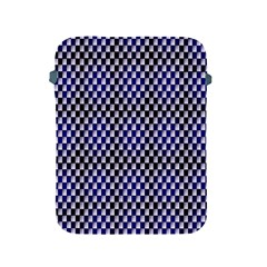 Squares Blue Background Apple Ipad 2/3/4 Protective Soft Cases by Simbadda