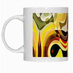 Colourful Abstract Background Design White Mugs by Simbadda