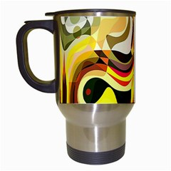 Colourful Abstract Background Design Travel Mugs (white) by Simbadda