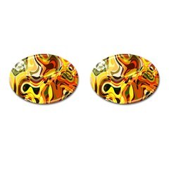 Colourful Abstract Background Design Cufflinks (oval) by Simbadda