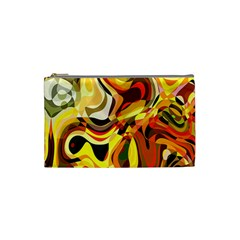 Colourful Abstract Background Design Cosmetic Bag (small)  by Simbadda