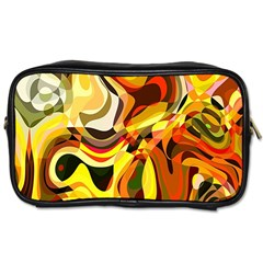 Colourful Abstract Background Design Toiletries Bags by Simbadda