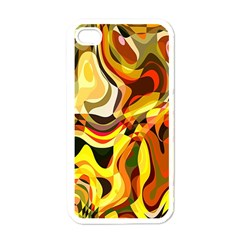 Colourful Abstract Background Design Apple Iphone 4 Case (white) by Simbadda