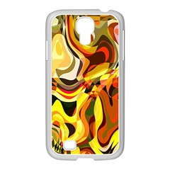Colourful Abstract Background Design Samsung Galaxy S4 I9500/ I9505 Case (white) by Simbadda