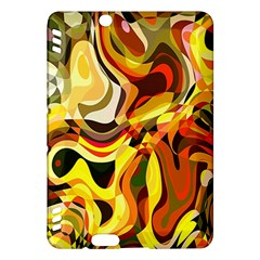 Colourful Abstract Background Design Kindle Fire Hdx Hardshell Case by Simbadda