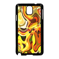 Colourful Abstract Background Design Samsung Galaxy Note 3 Neo Hardshell Case (black) by Simbadda