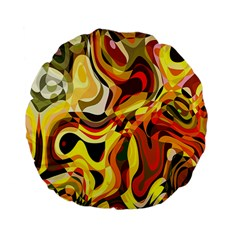 Colourful Abstract Background Design Standard 15  Premium Flano Round Cushions by Simbadda