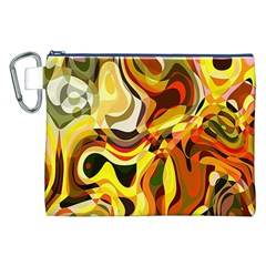 Colourful Abstract Background Design Canvas Cosmetic Bag (xxl) by Simbadda