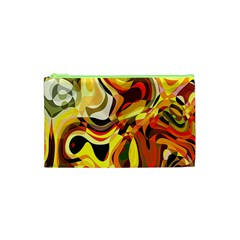 Colourful Abstract Background Design Cosmetic Bag (xs) by Simbadda