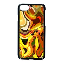 Colourful Abstract Background Design Apple Iphone 7 Seamless Case (black) by Simbadda