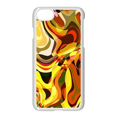 Colourful Abstract Background Design Apple Iphone 7 Seamless Case (white) by Simbadda