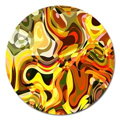 Colourful Abstract Background Design Magnet 5  (round) by Simbadda