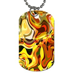 Colourful Abstract Background Design Dog Tag (One Side)