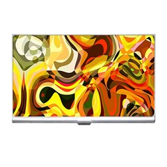Colourful Abstract Background Design Business Card Holders by Simbadda
