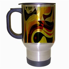 Colourful Abstract Background Design Travel Mug (silver Gray) by Simbadda