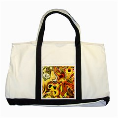 Colourful Abstract Background Design Two Tone Tote Bag by Simbadda