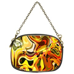Colourful Abstract Background Design Chain Purses (one Side)  by Simbadda