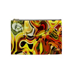 Colourful Abstract Background Design Cosmetic Bag (medium)  by Simbadda