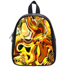 Colourful Abstract Background Design School Bags (small)  by Simbadda