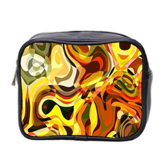 Colourful Abstract Background Design Mini Toiletries Bag 2 Side by Simbadda