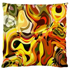 Colourful Abstract Background Design Large Cushion Case (one Side)
