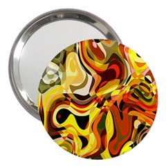 Colourful Abstract Background Design 3  Handbag Mirrors by Simbadda