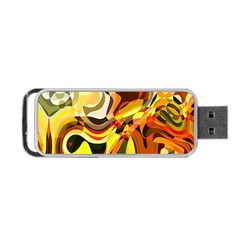 Colourful Abstract Background Design Portable Usb Flash (two Sides) by Simbadda
